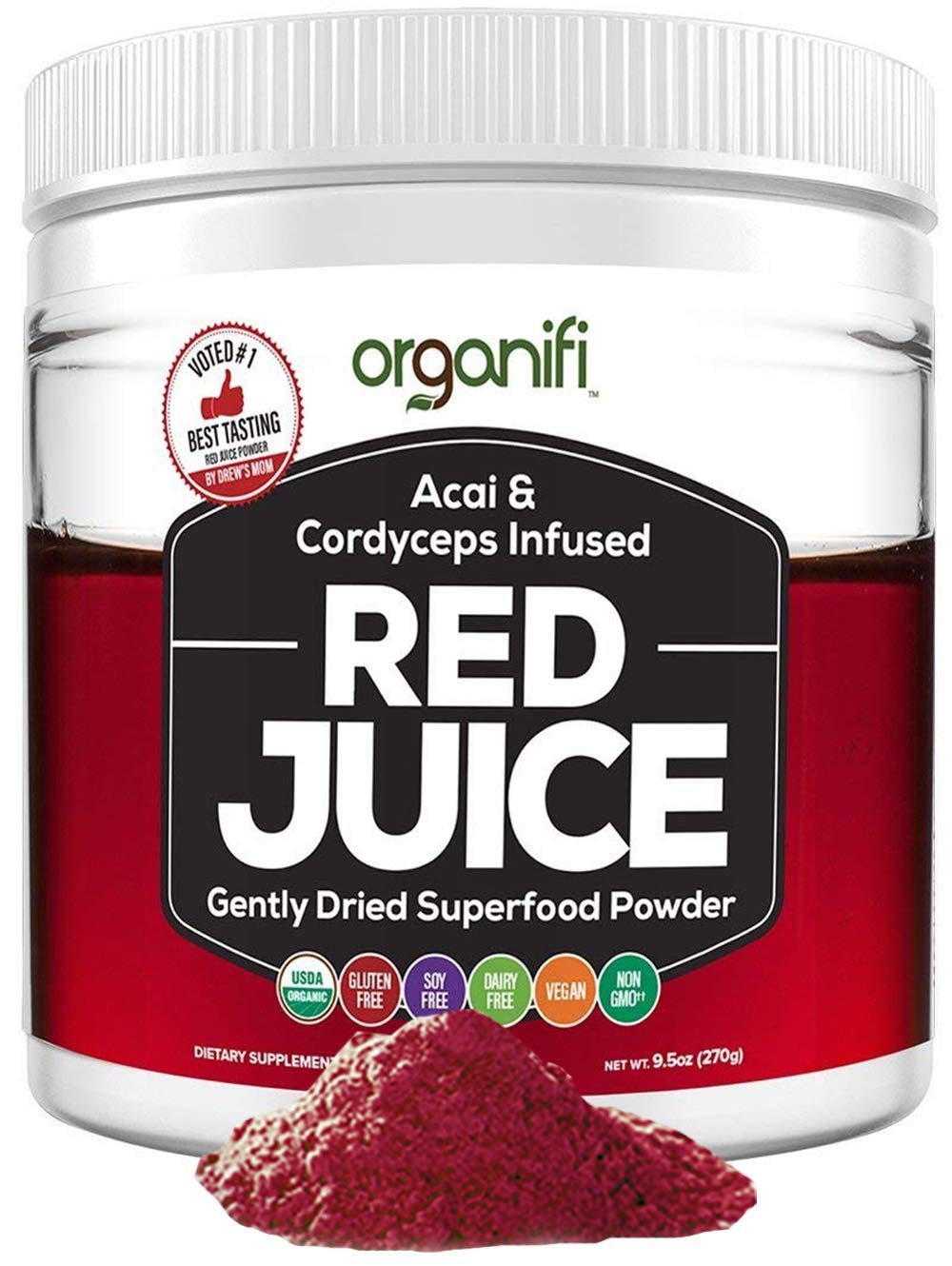 Organifi: Red Juice- Organic Superfood Supplement Powder - 30 Day Supply - USDA Certified Organic, Boosts Metabolism, and Reverses The Signs of Aging by Organifi