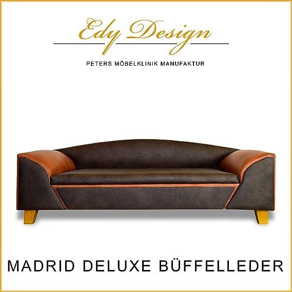 Perro sofá cama para perros Madrid Deluxe piel de búfalo ...