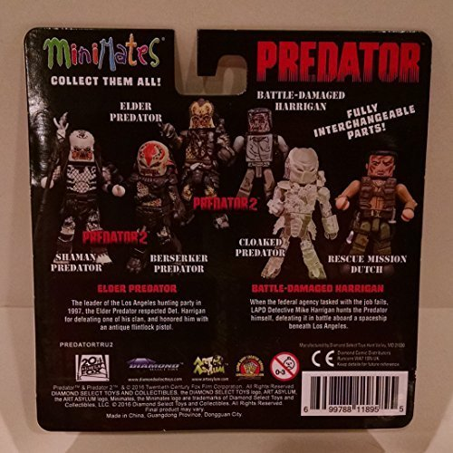 - Predator Minimates - Predator 2 Elder Predator & Battle-Damaged Harrigan