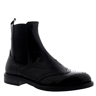 Womens Vagabond Amina Leather Casual Brogue Black Ankle Chelsea Boots