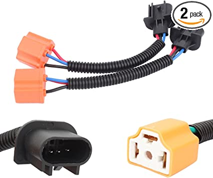 amazon.com: tomall h13 9008 male to h4 9003 female ceramics retrofit  extension wiring harness socket adapter for jeep wrangler jk tj led  headlight conversion kit 12cm(5inch): automotive  amazon.com