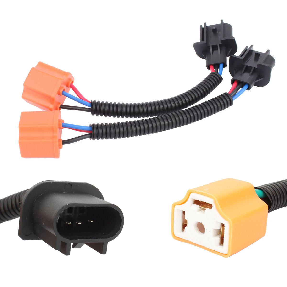 H11-H7 Extension 5inch TOMALL H11 to H7 LED Headlight Retrofit Wiring Harness Connector Socket Adapter 12cm