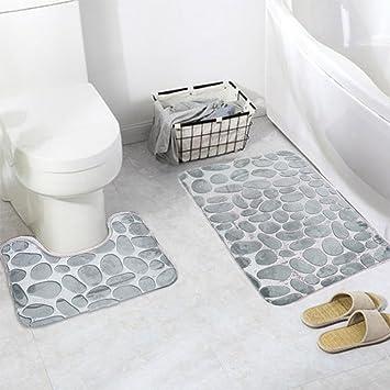 2 Stück rutschfeste Ständer Badematten Set, Eleoption atmungsaktivem ...