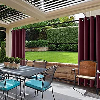 Cololeaf Curtains Indoor/Outdoor Solid Cabana Window Curtain Panel For Patio,  Porch, Gazebo
