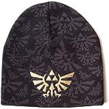 Nintendo Zelda - Golden Logo Bonnet noir/gris