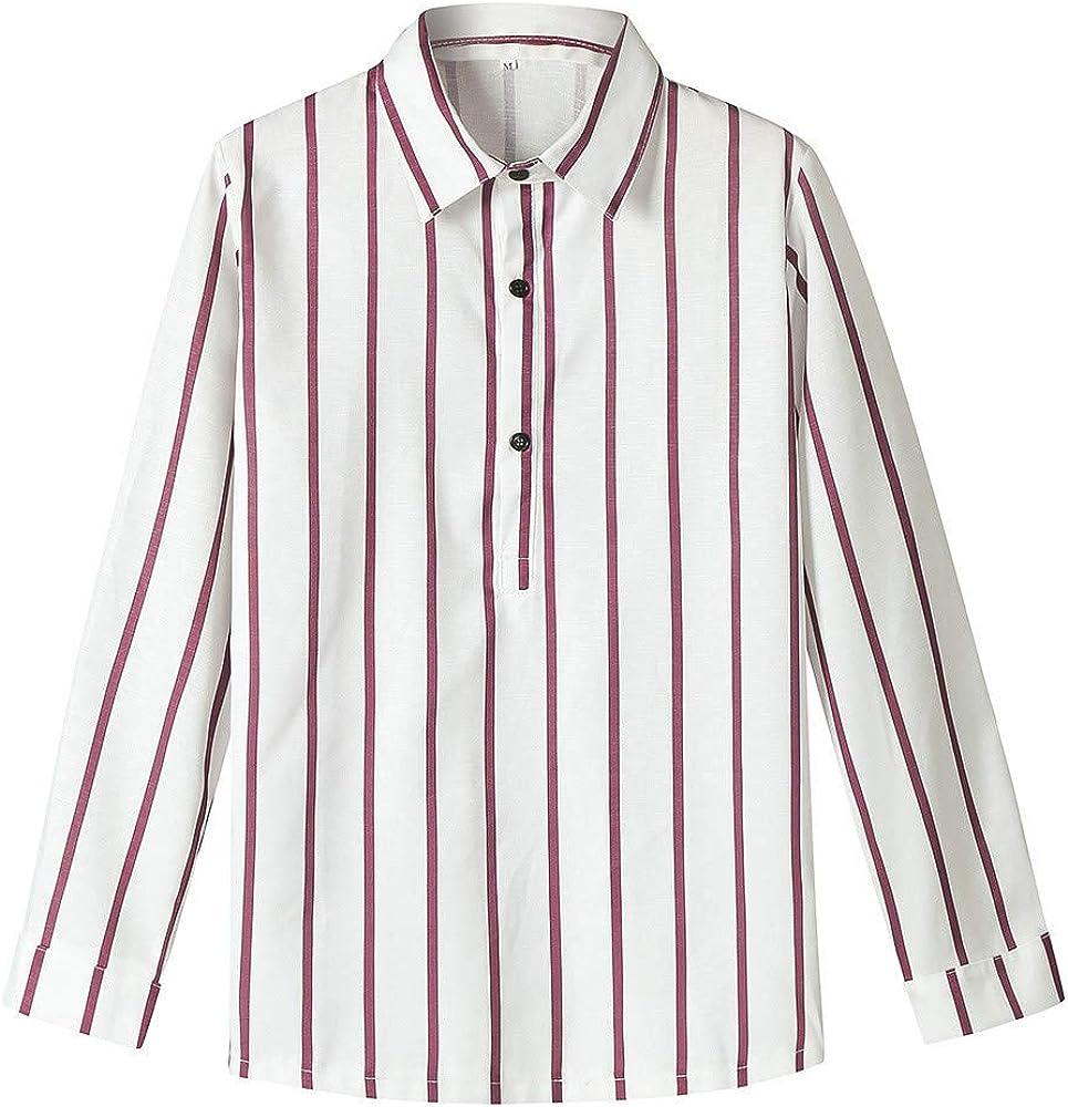 Katherina - Camiseta de Manga Larga de algodón de bambú para Hombre, diseño a Rayas, Blusa Casual con Camiseta Tropical Hawaiana - Blanco - XX-Large: Amazon.es: Ropa y accesorios