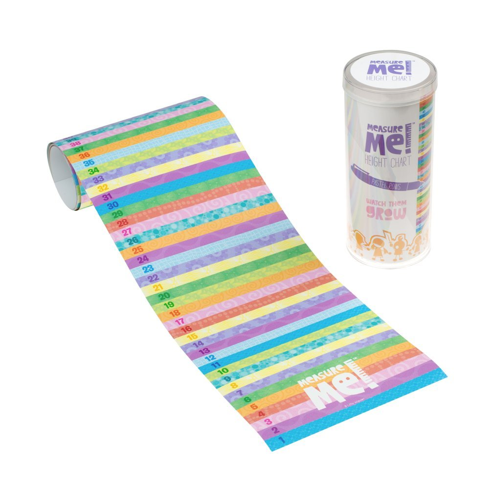 Little Wigwam Measure Me! Baby Roll-up Growth Height Chart for Children Kids Room - Pastel Rows