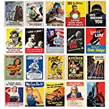 world war 2 propaganda posters - World War II Propaganda Mini-Poster Set (20 Posters)