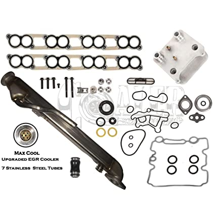 Upgraded EGR Cooler Kit Engine Oil Cooler Diesel Turbo OHV Fits Ford 6.0L V8 NEW
