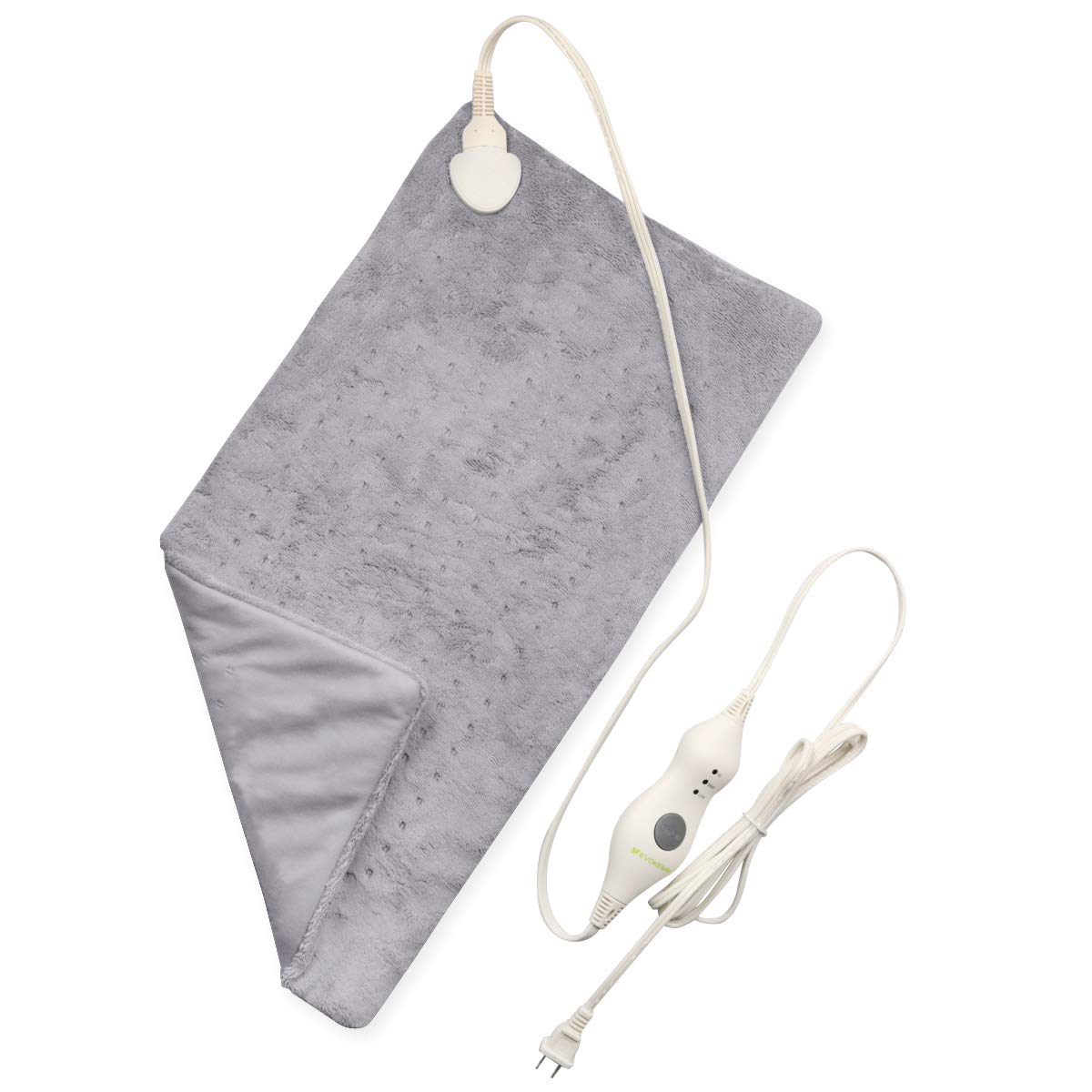 """Heating Pad - 3 Heat Settings with Auto-Shut Off, XL Ultra Soft Dry/Moist Heating Pad for Back, Abdomen, Hand, Shoulder Legs, Waist Pain Relief at Home - 12"""" x 24"""""""