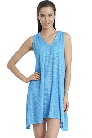 4b4e22c036c6b Image Unavailable. Image not available for. Color  JORDAN TAYLOR Belize  Scuba Blue Plus Size V-Neck Handkerchief Dress ...