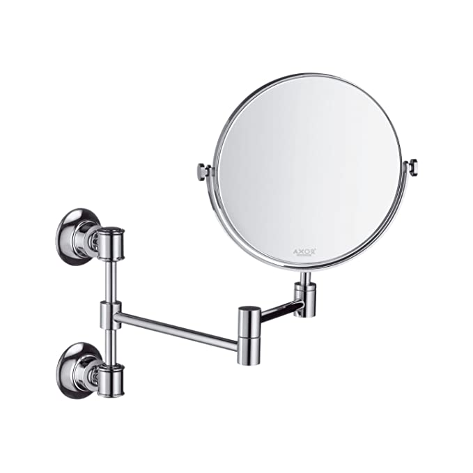 Hansgrohe 42090820 Montreux Shaving Mirror, Pull Out, Brushed Nickel
