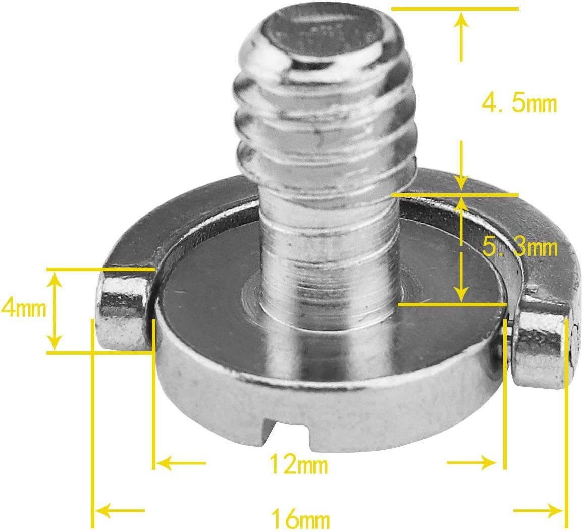 2pcs Steel D-Ring 14 Mounting Screw Thread Support For Camera Tripod Use