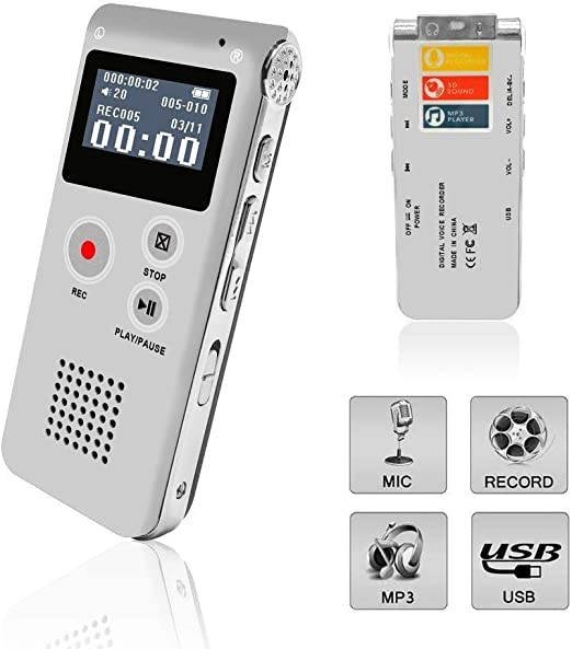 Digital Voice Recorder,Professional Audio Sound Recorder Dictaphone for...