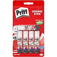 Pritt Glue Stick, Safe & Child-Friendly Craft Glue for Arts & Crafts Activities, Strong-Hold adhesive for School & Office Supplies, 5x11g Pritt Stick