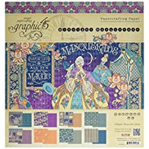"Graphic 45 4501549 Midnight Masquerade 12x12 Pad 12'X12"" Paper Pad"