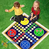 Giant Snakes and Ladders or Ludo Play Mat Board Traditional Childrens Game (Ludo)
