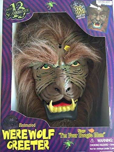 Animated Werewolf Greeter Sings