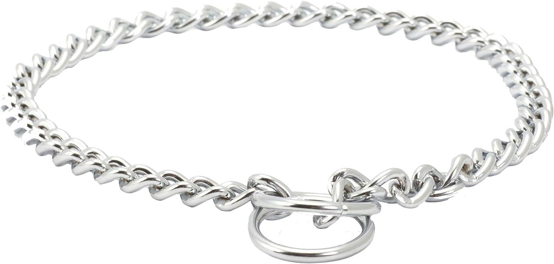 Ancol Heavy Check Chain Dog Collar