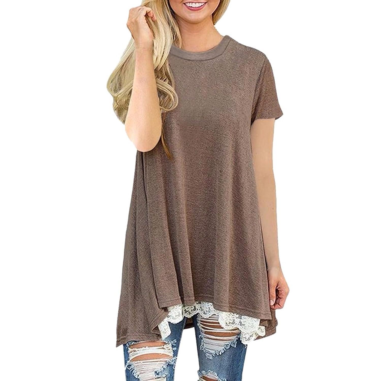 Damen Blumen 3//4 Arm Tops Tunika T-Shirt Blusen  Oberteil Hemd Neu