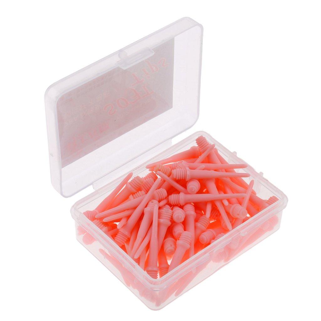 Sharplace Set de 80pcs Pointes De Fl/échettes Souples en Plastique Accessoire Protection Fl/échettes Noir