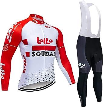 Ropa de Bicicleta Hombre MTB Traje de Ciclismo Mangas Largas Maillot+Pantalones Equipación de Ciclista, Talla S-3XL: Amazon.es: Deportes y aire libre
