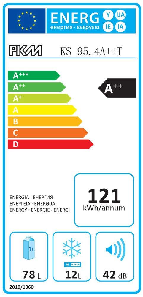 //K/Ã/¼hlteil78 liters //Gefrierteil12 liters PKM KS95.4A++ K/Ã/¼hlschrank//A+