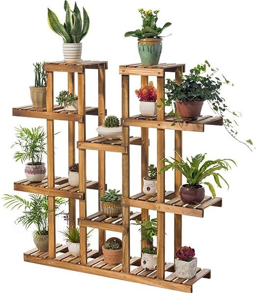 Soporte de exhibición de la planta, Soportes de flores de madera ...