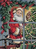 Dimensions Needlecrafts Gold Counted Cross Stitch Candy Cane Santa
