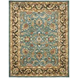 Safavieh Heritage Collection HG812B Handcrafted Traditional Oriental Blue and Brown Wool Rectangle Area Rug (11' x 16')