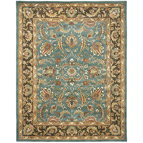Safavieh Heritage Collection HG812B Handmade Traditional Oriental Blue and Brown Wool Area Rug (9′ x 12′)
