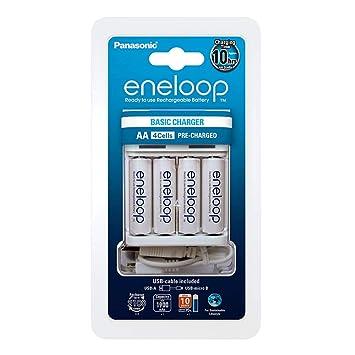 Panasonic eneloop 52061042 Cargador USB para 2/4 Ni-MH baterías AA ...