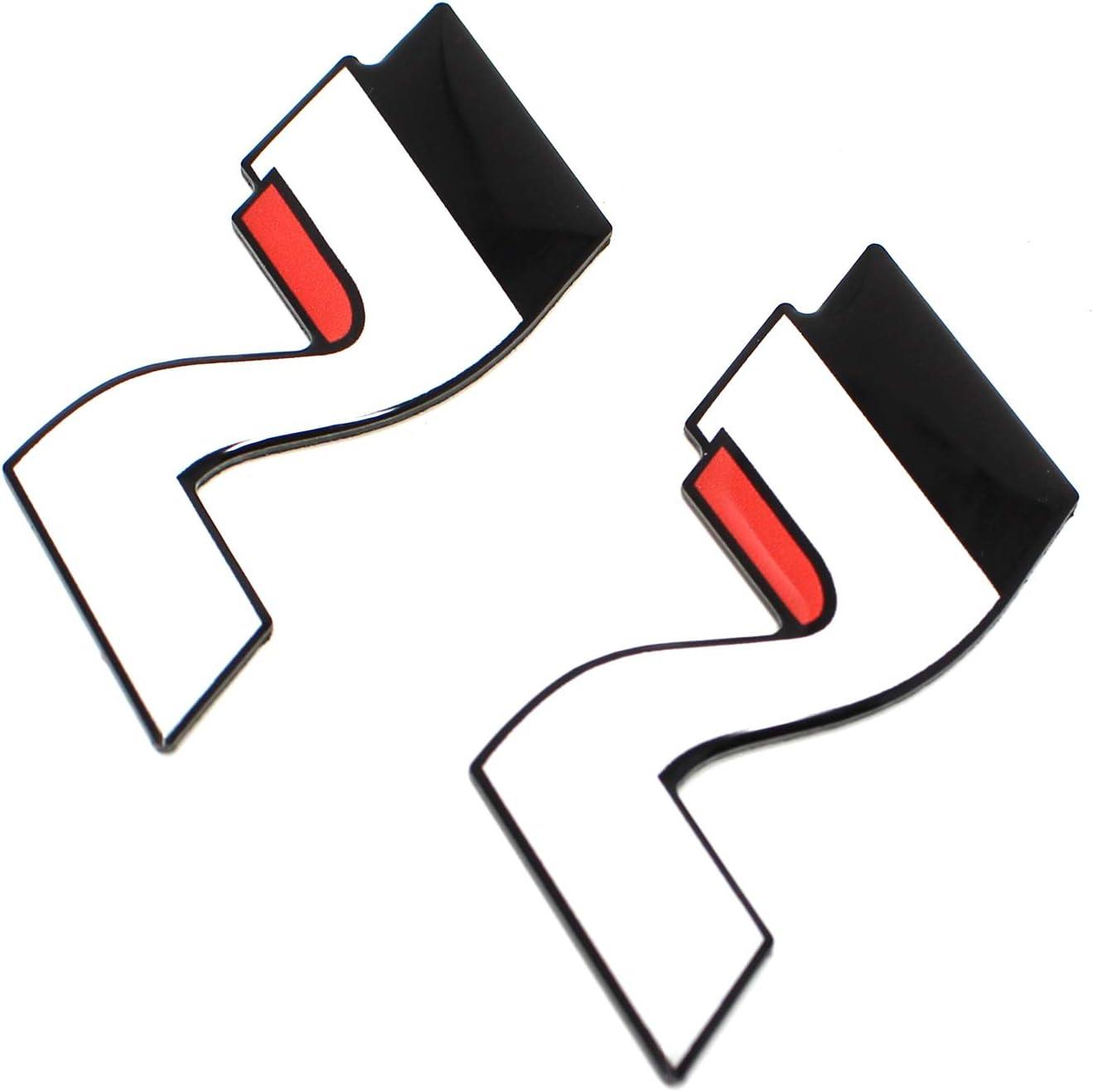 2er-Set Original N-Logo Badge OEM Emblem f/ür Seitenschweller Passgenau Aufkleber f/ür Vorhandene Einpr/ägungen Selbstklebend
