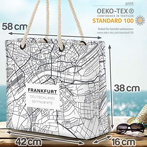 VOID Frankfurt kort strandväska Shopper 58 x 38 x 16 cm 23 L XXL shoppingväska väska resväska Beach Bag