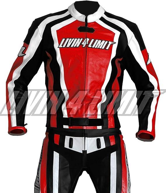 4LIMIT Sports Motorrad Lederkombi LAGUNA SECA Zweiteiler Gr/ö/ße XS Rot-Schwarz-Wei/ß