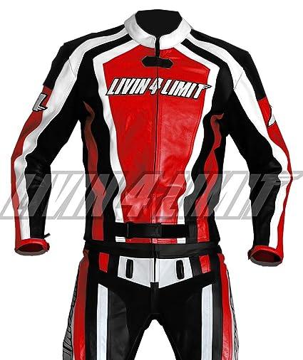 4LIMIT Sports 200100000305 Traje para Moto de Cuero, Rojo ...