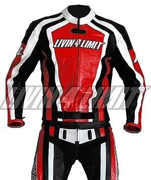 4LIMIT Sports 200100000303 Traje para Moto de Cuero, Rojo ...