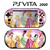Decorative Video Game Skin Decal Cover Sticker for Sony PlayStation PS Vita Slim (PCH-2000) - Princess Friends Sparkle Belle Rapunzel Tiana