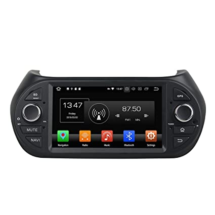 Kunfine Android 8.0 Octa Core Car DVD GPS Navigation Multimedia Player Car Stereo for Fiat Fiorino