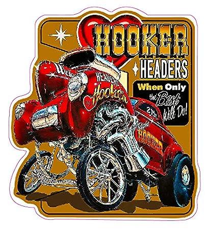 Nostalgia Decals Hooker Headers Willy's Gasser Decal 6