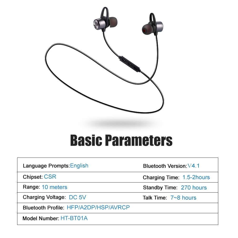 Bluetooth Headphonesestavel Earbuds Ipx5 How To Build The Itsybitsy Usb Lamp Circuit Diagram 41 Wireless Stereo Headphones With Microphone Sport Magnetic Headsets In Ear