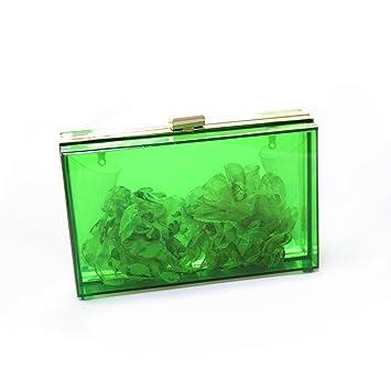 Amazon.com: Lujo Bolso de mano transparente rectangular ...