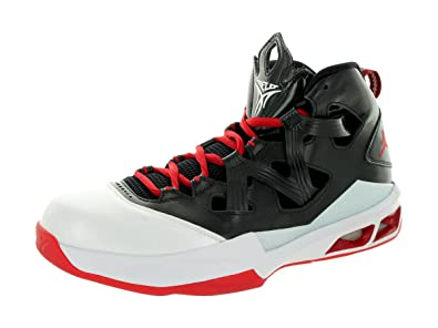 Nike Jordan Men's Jordan Melo M9 Black/Gym Red/White Basketball Shoe 9 Men