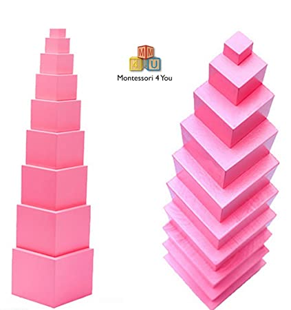 Materiale Montessori, Torre Rosa