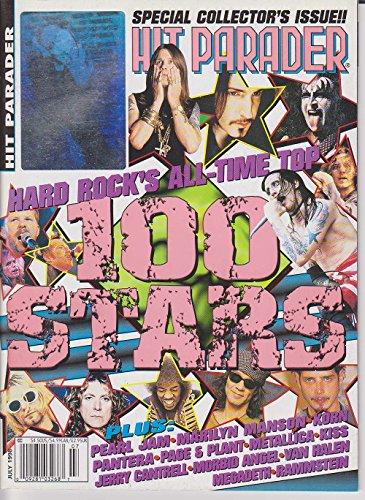 Hit Parader Magazine HARD ROCK'S 100 STARS Pearl Jam MARILYN MANSON Kiss KORN Pantera MORBID ANGEL Rammstein AEROSMITH July 1998 C