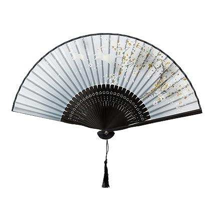 Japanische HANDFÄCHER TASCHENFÄCHER FÄCHER KLAPPFÄCHER Retro Bambus
