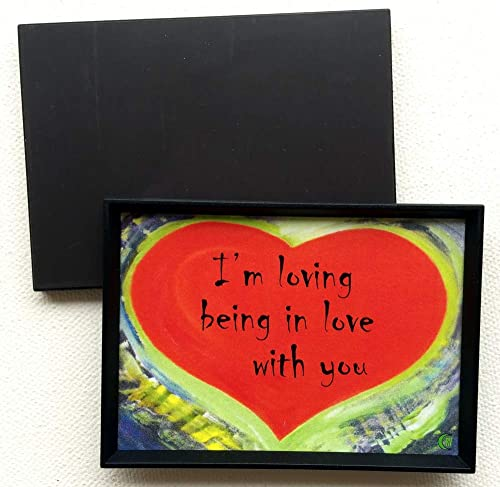 I love you to the moon and back 2x3 magnet Heartful Art by Raphaella Vaisseau