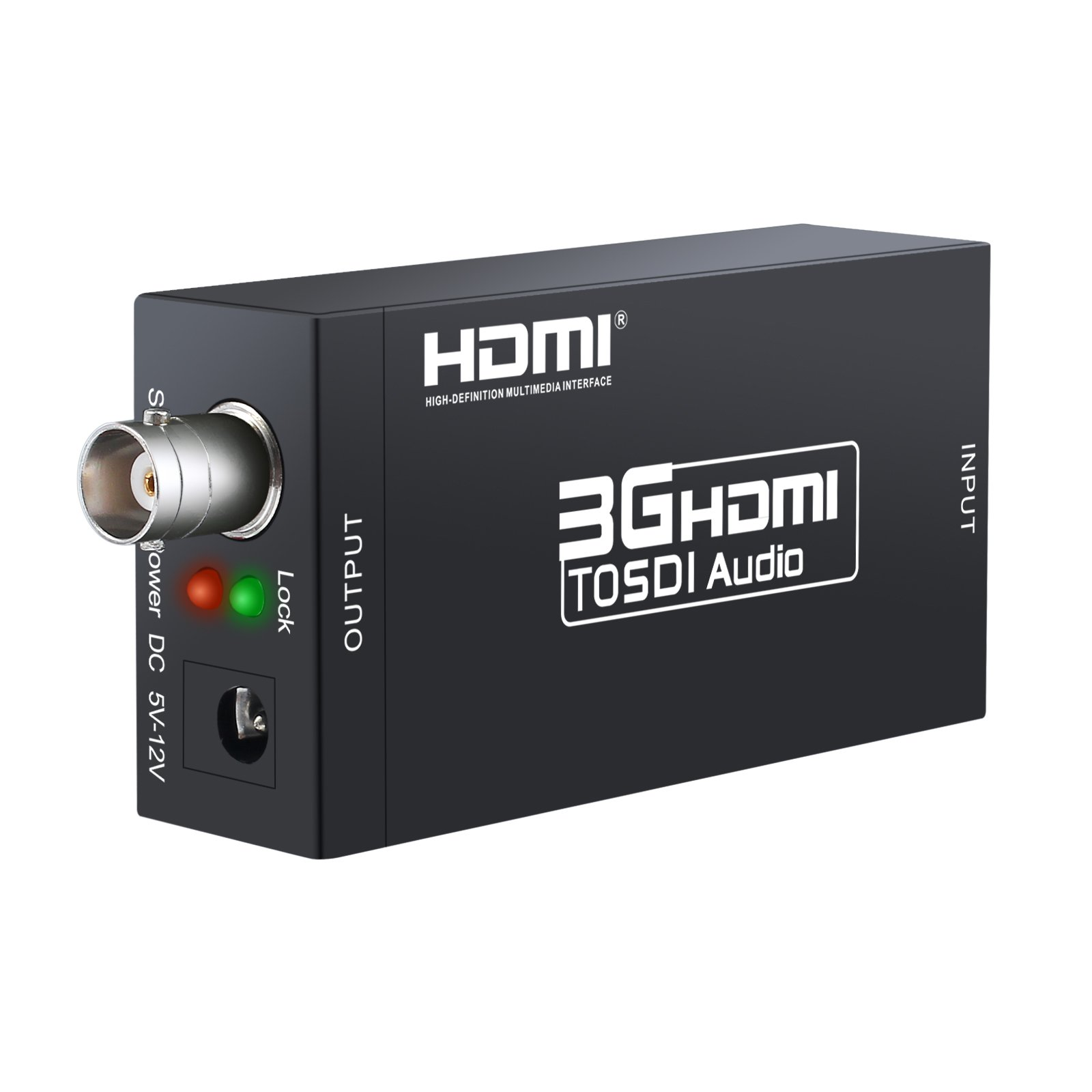 ESYNIC HDMI to SDI Converter Adapter Mini 3G HDMI SDI Adapter HDMI to SDI Video Audio Converter 1080P BNC SD-SDI/HD-SDI/3G-SDI for Camera Home Theater