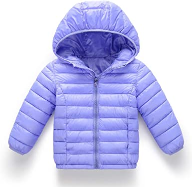 FORESTIME Cute Kids Baby Girls Boys Winter Solid Coat Jacket Thick Warm Cotton Lightweight Outerwear Snow Clothes