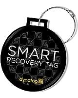Dynotag Web/GPS Enabled QR Smart Deluxe Steel Luggage Tag & Braided Steel Loop